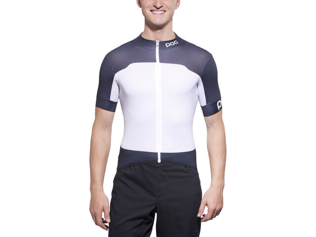 POC Raceday Climber Jersey Heren, nickel blue/hydrogen white